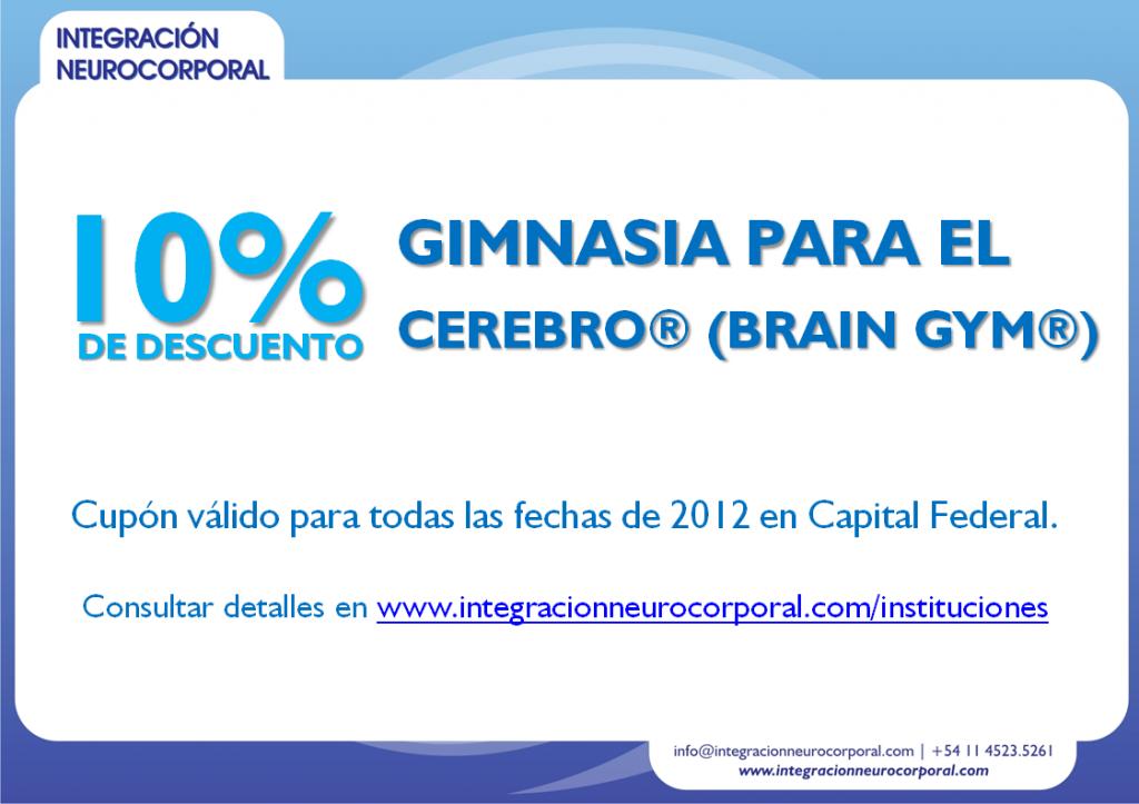10% de descuento en Brain Gym®
